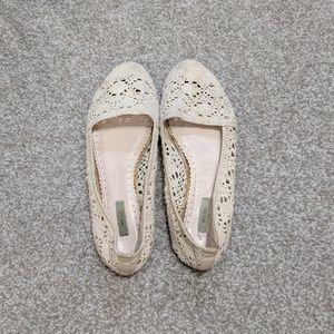 Kimchi Blue White Lace Crochet Flats 7